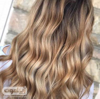 رنگ مو عسلی طلایی خاص و شکیل