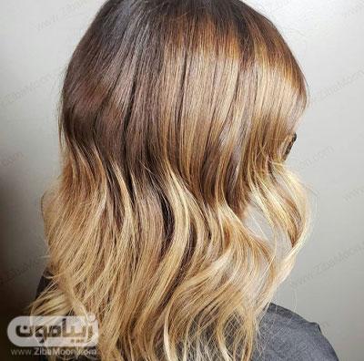 رنگ مو عسلی قهوه ای شیک