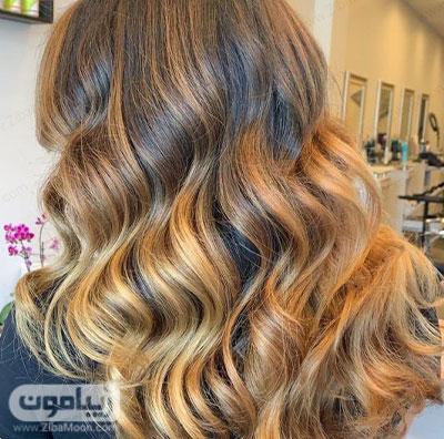 رنگ مو عسلی کارملی