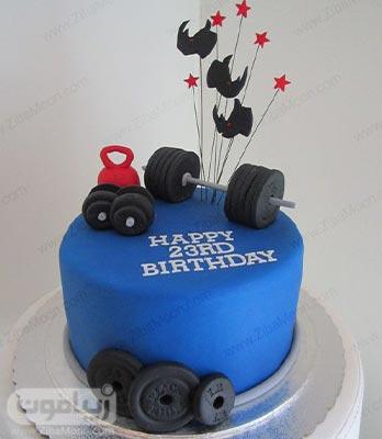 کیک تولد فوندانتی شیک برای پسران ورزشکار