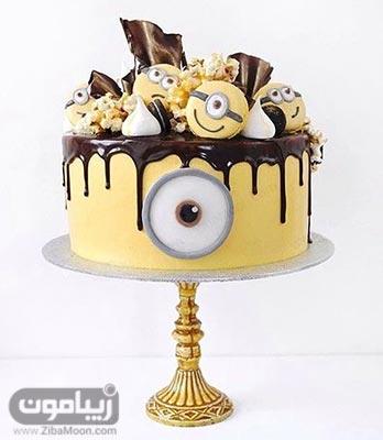 مدل کیک تولد پسرانه شیک و خاص با تم مینیون
