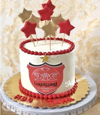 کیک تولد پسرانه پرسپولیسی