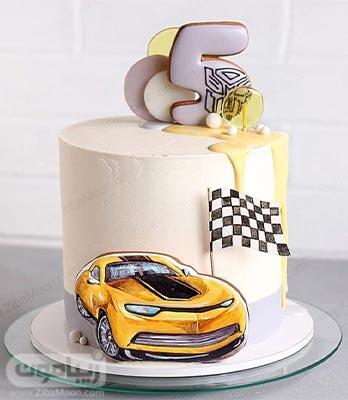 کیک تولد پسرانه با تم ماشین