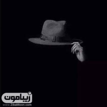 عکس پروفایل خاص و جذاب سیاه با کلاه مردانه