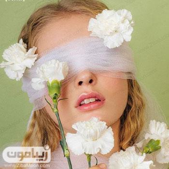 عکس پروفایل دخترانه خاص با گل سفید