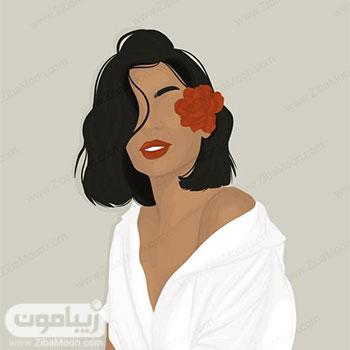 عکس پروفایل جدید دخترانه به شکل نقاشی