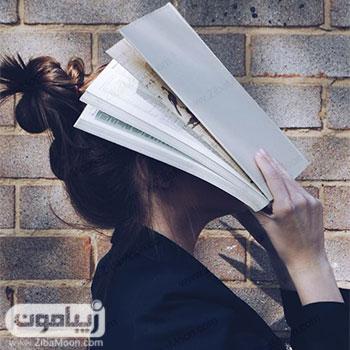 عکس پروفایل دخترونه با کتاب