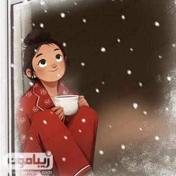 عکس پروفایل دخترانه فانتزی برای روزهای برفی