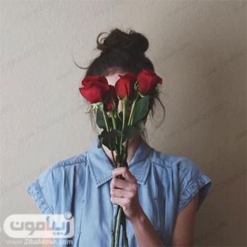 عکس پروفایل دخترانه با گل رزقرمز