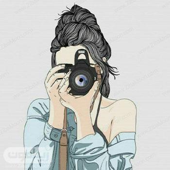 عکس پروفایل دخترانه فانتزی با دوربین عکاسی