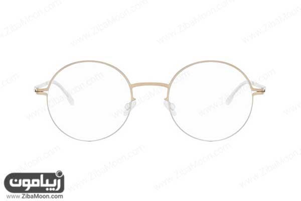 عینک طبی مردانه با فریم گرد و ظریف