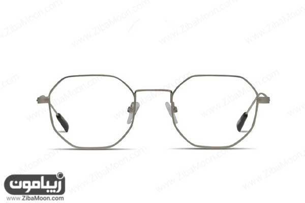 عینک طبی مردانه با فریم هشت ضلعی