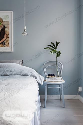 اتاق خواب آبی یخی