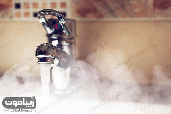 بخار آب گرم