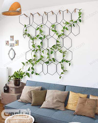 تزیین دیوار با گیاه پوتوس