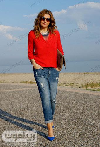 استایل زنانه با شلوار جین