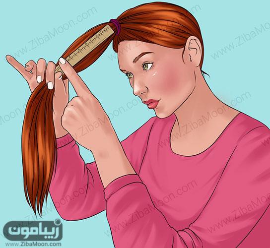 روش کوتاه کردن موهای بلند
