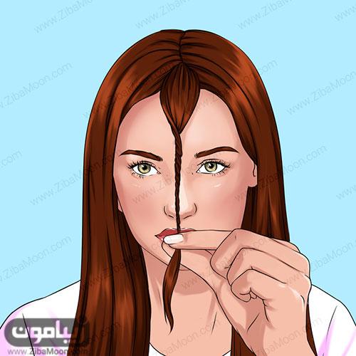کوتاه کردن قسمت جلو موها
