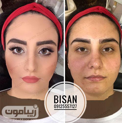 قبل و بعد ارایش زیبا