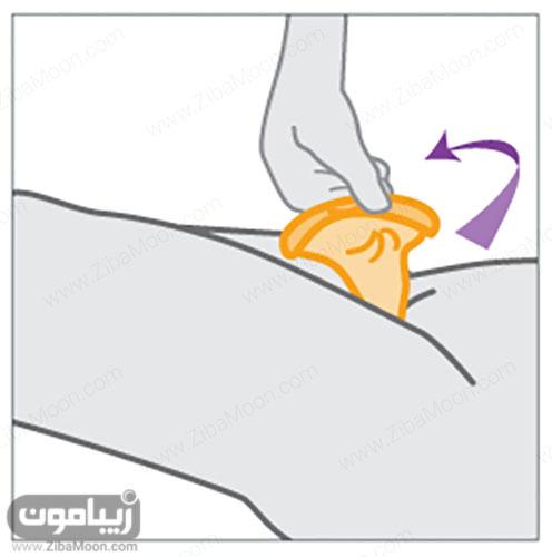 خارج کردن کاندوم زنانه