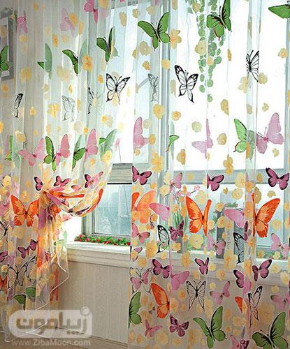 مدل پرده پروانه ای و رنگارنگ برای اتاق خواب