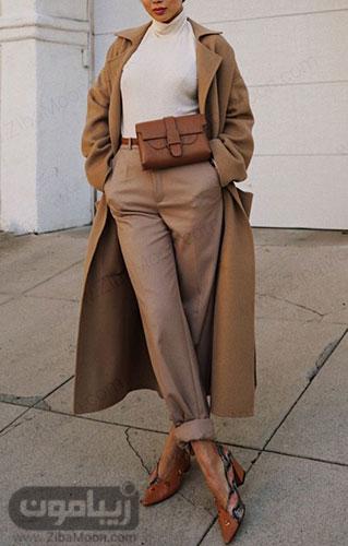 استایل جذاب دخترونه با کیف کمری