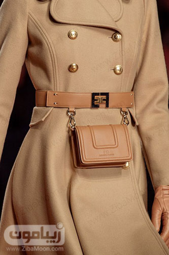 مدل کیف کمری چرمی زنانه شکیل