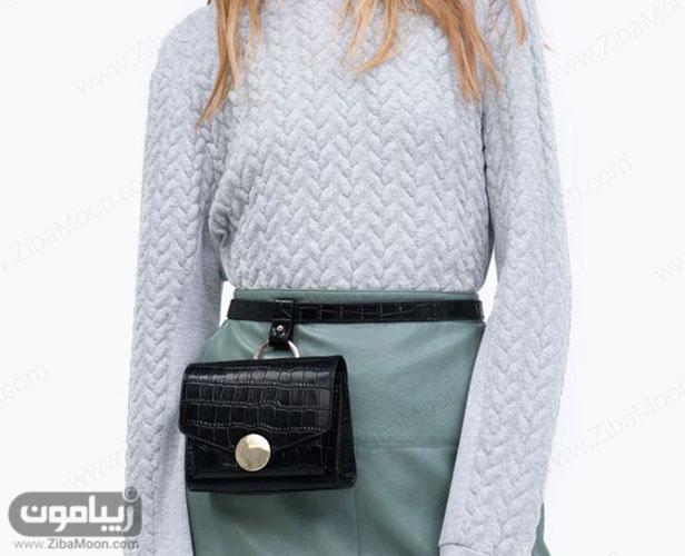 کیف کمری زنانه ساده و شیک برای استایل پاییزی