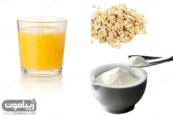 شیرخشک و آب پرتقال