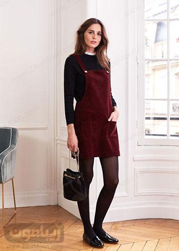 مدل سارافون اسپرت دخترانه شیک با دامن کوتاه