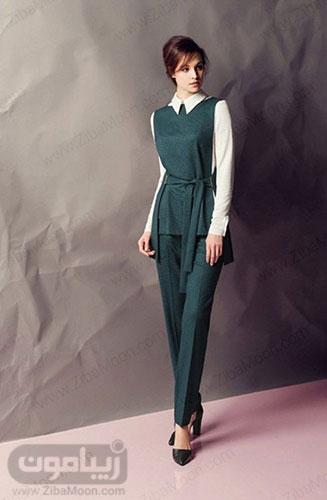 مدل سارافون کوتاه باشلوار برای استایل دخترانه