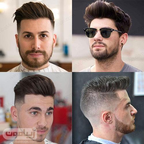 مدل مو مردانه به سمت بالا
