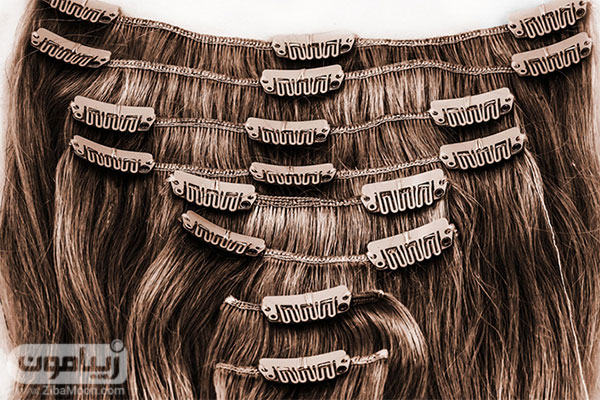 اکستنشن مو با گیره یا کلیپس
