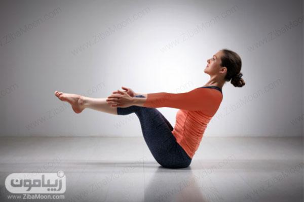 حرکت یوگا برای لاغری شکم