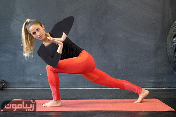 حرکت یوگا برای لاغری پهلو