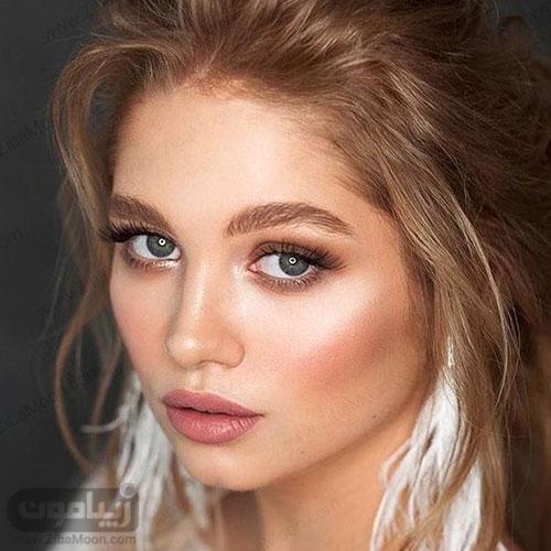 مدل آرایش عروس اروپایی خاص و جذاب