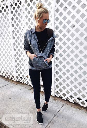 تیپ اسپرت دخترانه با سوییشرت