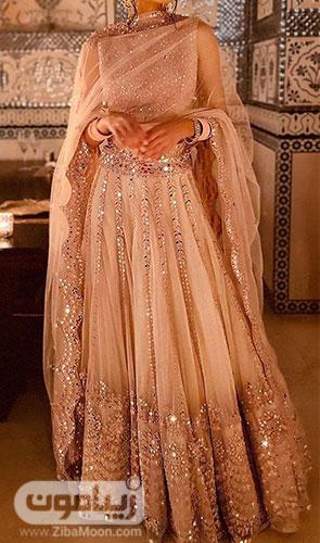 لباس هندی جذاب با ساری متفاوت و طراحی شکیل و مد روز