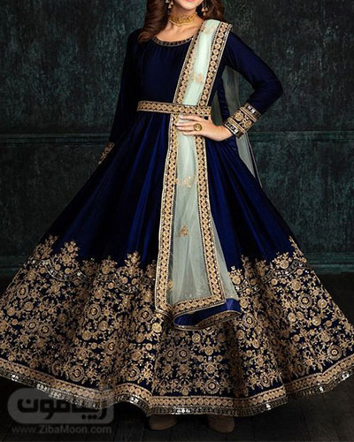 لباس مجلسی دخترانه هندی کاملا پوشیده و شکیل