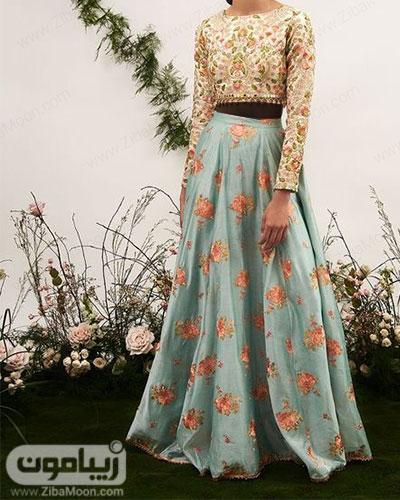 مدل لباس هندی دخترانه جدید با گلدوزیهای ظریف و خاص
