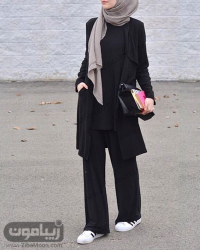 تیپ دانشجویی دخترانه با حجاب و شیک