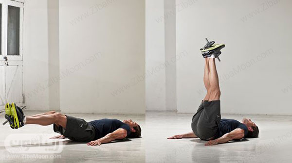 تمرین ورزشی بلند کردن پاها