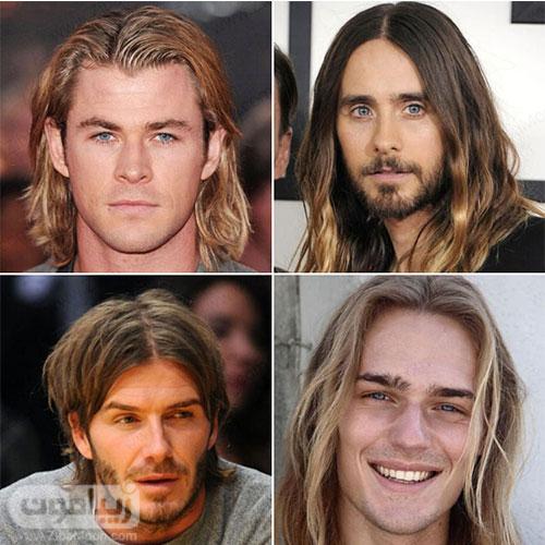 مدل مو مردانه بلند فرق از وسط