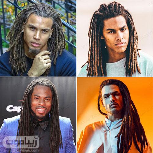 مدل مو بلند مردانه با بافت مو دردلاک