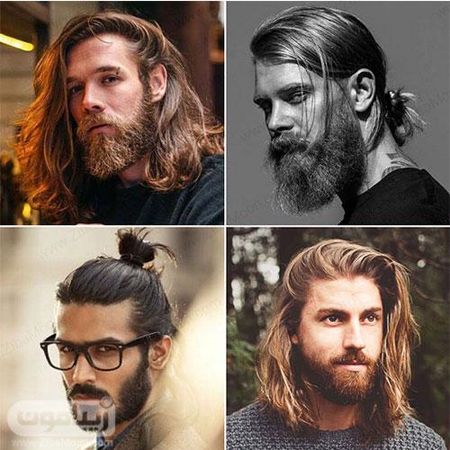 مدل مو بلند مردانه با ریش
