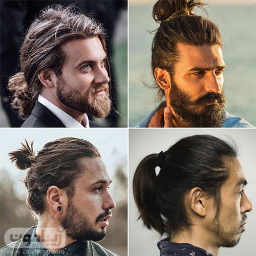 مدل مو بلند پسرانه به شکل دم اسبی