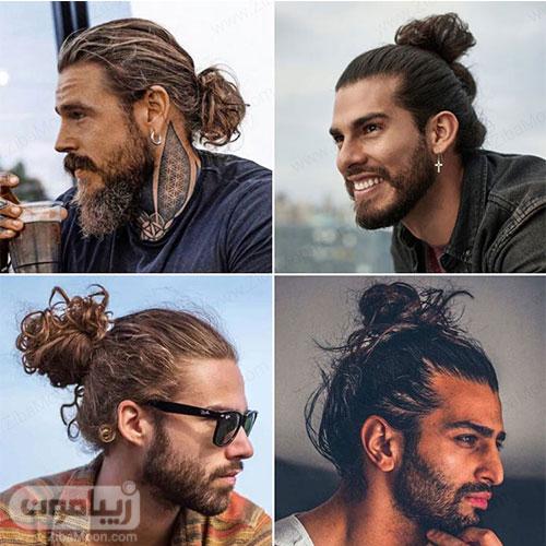 مدل مو مردانه بلند به شکل دم خرگوشی