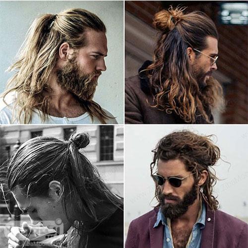 مدل مو بلند پسرانه به شکل سامورایی