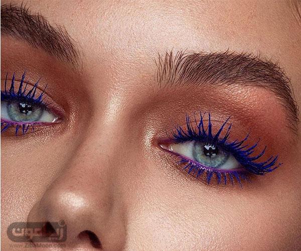 آرایش چشم با دو رنگ