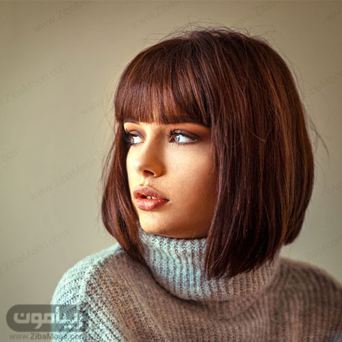 مدل مو مصری فانتزی دخترونه زیبا با چتری کوتاه